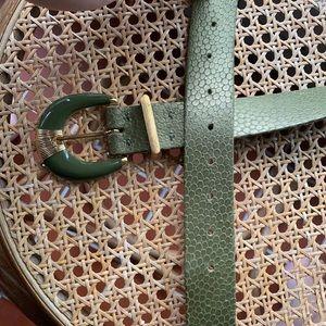 St. John green leather belt